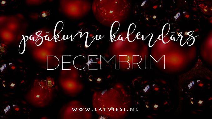 pasākumi decembrī