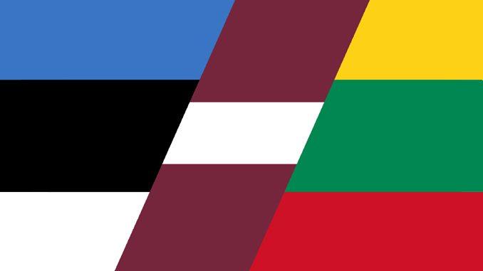 Baltijas valstu karogi