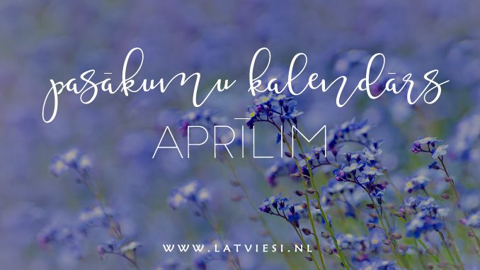 Pasākumi aprīlī