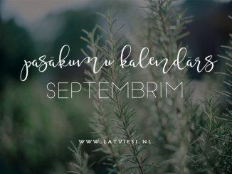 Pasākumi septembrī