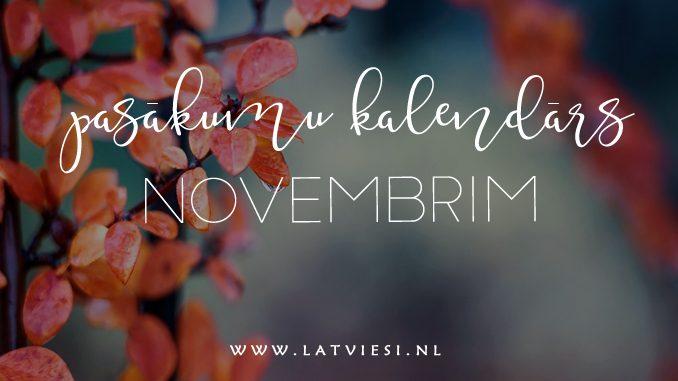 pasākumi novembrī