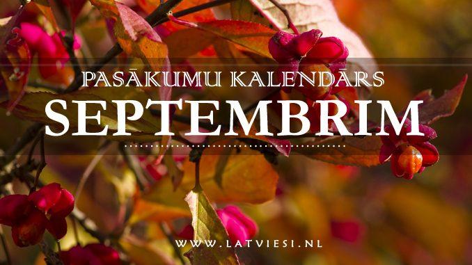 Pasākumu kalendārs septembrim